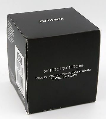 FUJI TCL-X100 Tele Conv. Lens (in Black) for FUJI X100 series NIB Free Shipping!