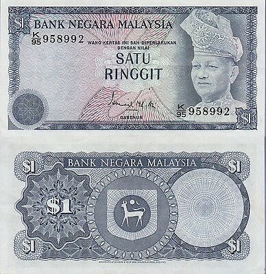 Malaysia 1 Ringgit Banknote,(1976-1981)Choice Extra Fine Condition Cat#13-A-8992