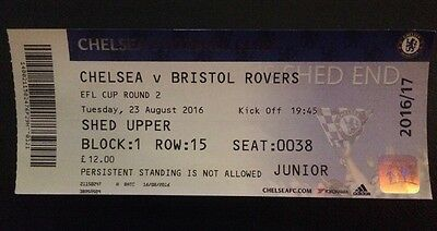 Chelsea v Bristol Rovers Ticket - Soccer / Football League Cup 2016 2017