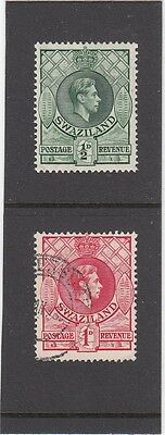 SWAZILAND Used Stamps 1938 .... Set of 2 Values