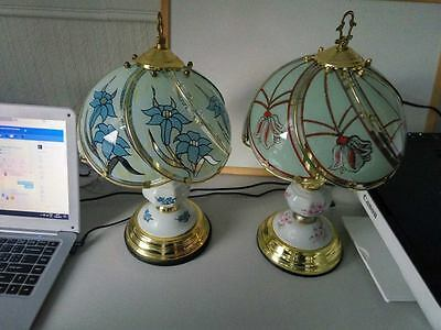 Two Lovely Ceramic Lamps Table Lamp UK plug Retro Vintage Victorian GLASGOW