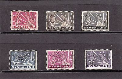 NYASALAND Used Stamps 1934 Set of 6 Values
