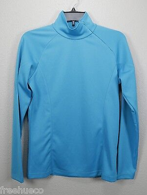 VOLKL Midweight Synthetic Long Sleeve Tech Baselayer Shirt -Sky Blue -W's Large