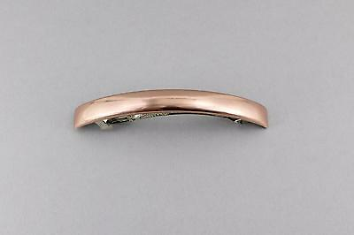 """Rose Gold thin skinny narrow rectangle barrette hair clip accessory 4 3/8"""" long"""