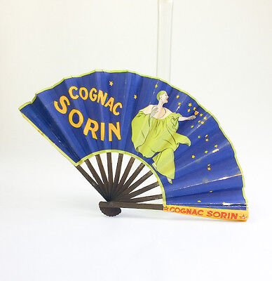 Vintage French COGNAC SORIN Advertising Fan Art Deco Paris 1920s-30s