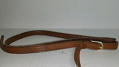 Vintage COACH Leather Adjustable Replacement Crossbody Strap - Brown