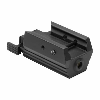 NcStar AAPRLS Pistol Low Profile Compact Red Laser Sight Weaver/Picatinny Rail