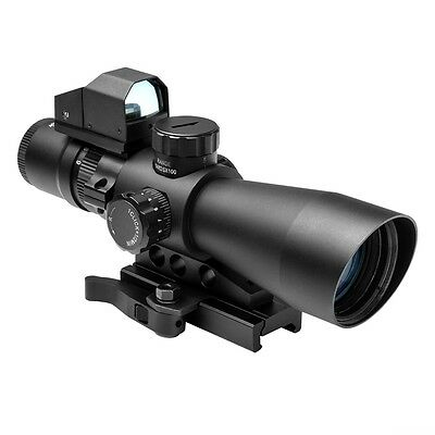 NcStar STP3942GDV2 Mark III Tactical P4 Reticle 3-9X42 Scope w/ Red Dot Sight