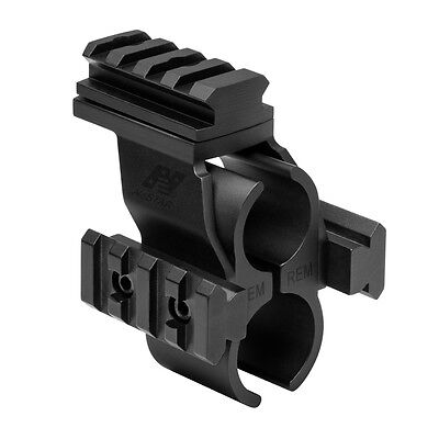 NcStar MSHBDREM Remington 870 1100 11-87 Shotgun Barrel Rail Mount 3 Rail System