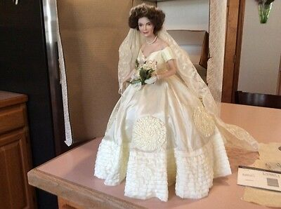 Jackie O Porcelain Doll Franklin Mint
