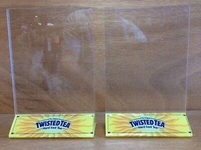 Twisted Tea Table Tent Menu Holder - Set of 2 - New Old Stock - Free Shipping