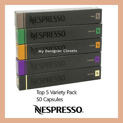 50 Capsules Nespresso Coffee Best Variety Pack Mixed Pod - Top 5 Popular