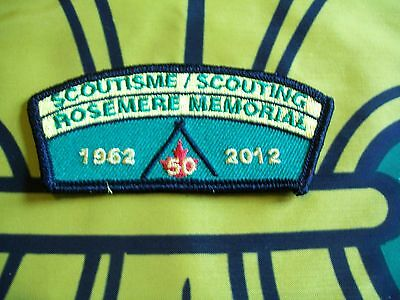 Canadian Scout badge/patch Scouting Rosemere Memorial