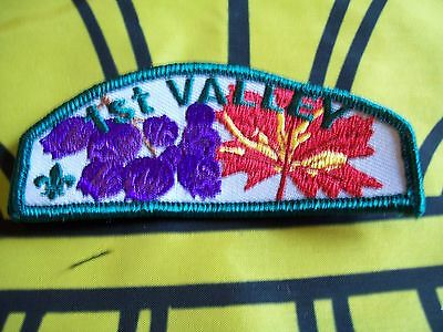 Canadian Scout badge/patch 1st Valley