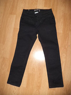 NEXT jet black stretch girls black skinny casual jeans age 7 years