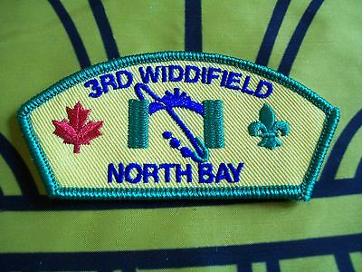 Canadian Scout badge/patch 3rd Widdifield North Bay