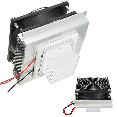 DC 12V Peltier Semiconductor Refrigeration Pet Air Conditioner Fridge Cooler+Fan