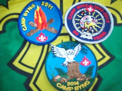 Canadian Scout badge/patches 3 Camp Byng