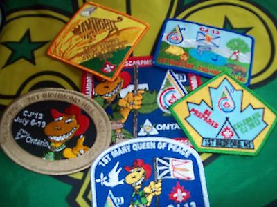 Canadian Scout badge/patches 6 CJ 13 Badges
