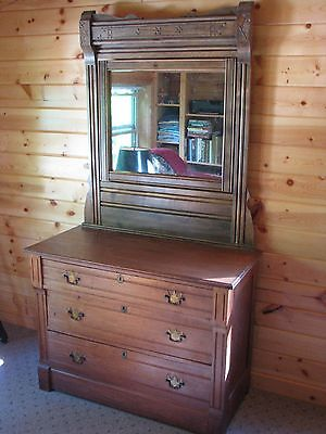 Antique Eastlake Dresser with Mirror with Original Hardware and Locks