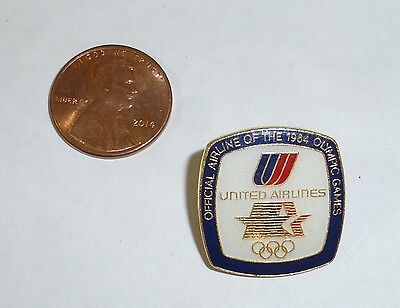 Official pin from 1984 Summer Olympics in Los Angeles, United Airlines airline
