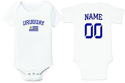 Uruguay Soccer Baby Outfit Infant Girls Boys Bodysuit Customized T-shirt