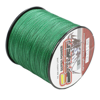 300M 80LB  Moss Green  Super Strong 100%PE  Dyneema Braided Fishing Line New