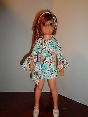 Pretty  Retro Dress Outfit For Ideal Crissy Doll