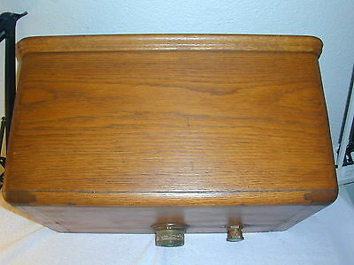 Antique / Vintage Wood Toilet Wall Tank with Copper Liner & some plumbing parts