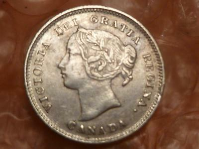 Canada 1896 Silver 5 Cents Higher Grade #1