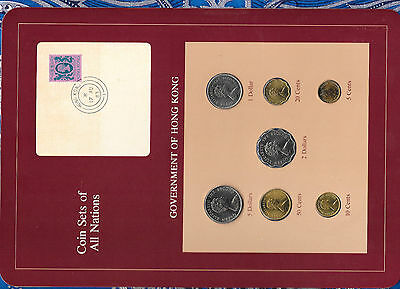 Coin Sets of All Nations Hong Kong w/card 1979-1982 UNC $1 1980 $2 1982 $5 1981