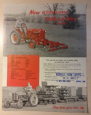 International Harvester International Cub Lo Boy Tractor 4 page  Brochure