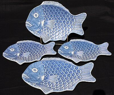 GET Melamine Blue Fish Plates / Serving pieces Beach, Nautical, lake