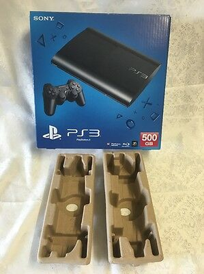 PS3 PlayStation 3 500GB Console BOX & INSERTS ONLY!! suit Collector Replacement
