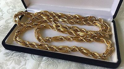 Vintage Gold Filled Designer OROTON chain Necklace Long 91cm Unisex, Top Quality
