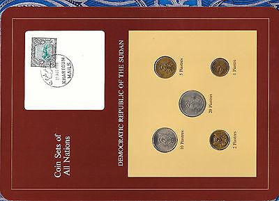 Coin Sets of All Nations South Sudan UNC 1983 20,10,5,2,1 Piastres