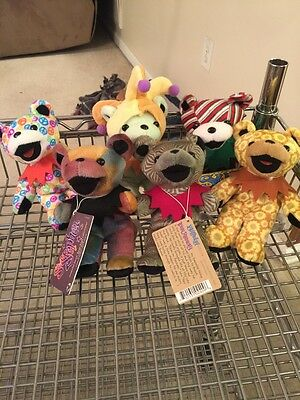 Lot of 6 Grateful Dead Bean Bear Collection with Tag by Liquid Blue