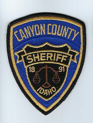 Canyon County ID Idaho Sheriff patch - Nice! *Blue with Black & Gold Border*