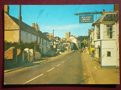 Postcard Dorset Charmouth High Street The George Hotel