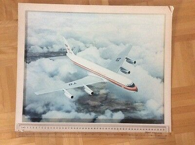TCA  DC-8 Trans Canada vintage Photo Poster (40 X 50 cm) Very Unique