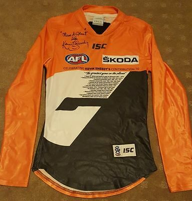 Kevin Sheedy Special Edition Personally Signed Authentic GWS Guernsey