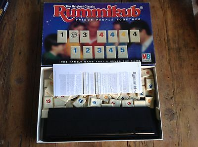 The Original RUMMIKUB MILTON BRADLEY Tile Game. Retro Vintage Board Game