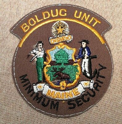 ME Department of Corrections Minimum Security Boldug Unit Patch