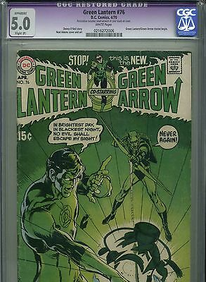 Green Lantern #76 - April, 1970 - CGC 5.0 - KEY ISSUE - Neil Adams art and cover