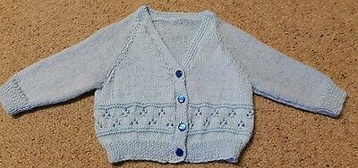 Baby Cardigan In Pale Blue Size 0