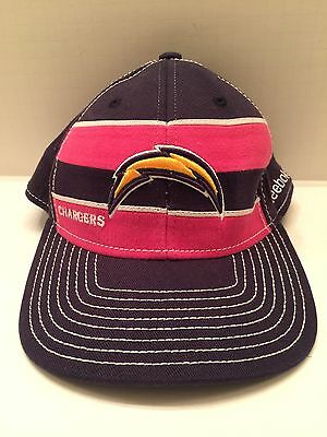 REEBOK CHARGERS FOOTBALL CAP/HAT NFL team San Diego  bolt onfield L/XL Pre Owned
