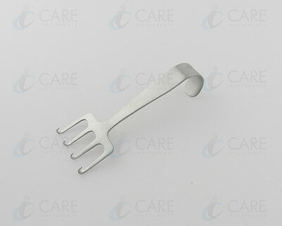 Freeman Face Lift Retractor 10.2cm, Grip Hook Reverse 4 Prongs Care Instruments