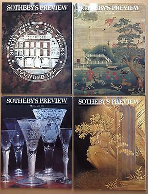 4 Art Auction Sotheby's Preview Magazine Modern Impressionist Old Master Art