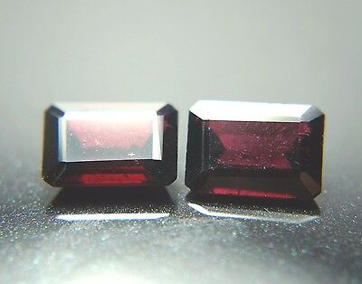 Rare! Pair-17.82 Ct  Natural Purplish-Pink To Orange-Red Garnet (Ng-363)