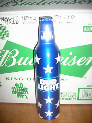 1 #502716 Bud Light Stars 4Th Of July Issue Aluminum Beer Bottle By Budweiser